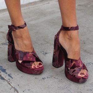 "Purple Steve Madden platform sandles - ""Jodi"""